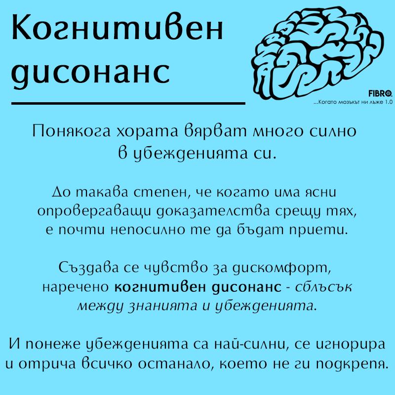 Какво е когнитивен дисонанс?
