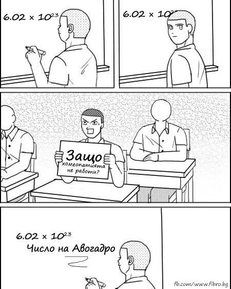 Число на Авогадро и хомеопатията