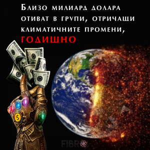 Милиард долара годишно за пропаганда срещу глобалното затопляне